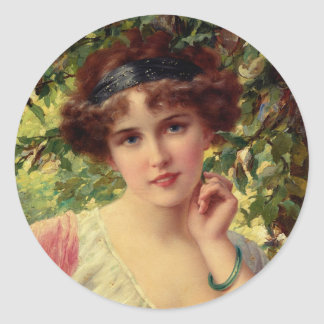 A Summer Rose Classic Round Sticker