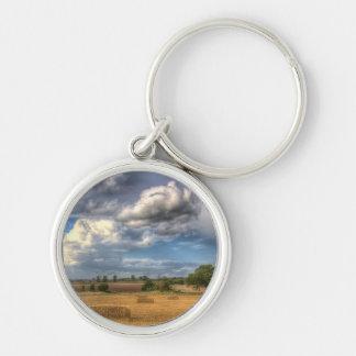 A Summers Evening Farm Key Chain