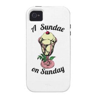 A Sundae on Sunday Vibe iPhone 4 Cases