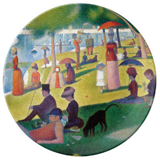A Sunday Afternoon on La Grande Jatte by Seurat Plate