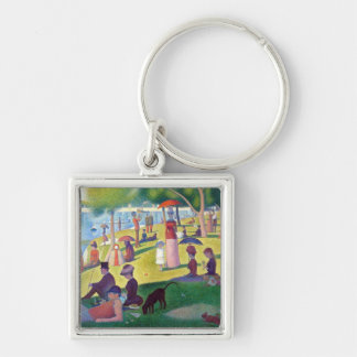 A Sunday Afternoon on La Grande Jatte by Seurat Silver-Colored Square Keychain