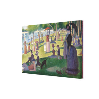 A Sunday Afternoon on the Island of La Gran Seurat Canvas Print