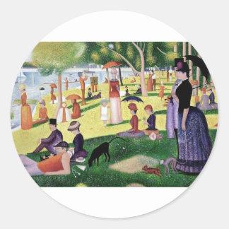 A Sunday Afternoon On The Island Of La Grande Jatt Classic Round Sticker