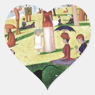 A Sunday Afternoon On The Island Of La Grande Jatt Heart Sticker
