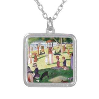 A Sunday Afternoon On The Island Of La Grande Jatt Silver Plated Necklace