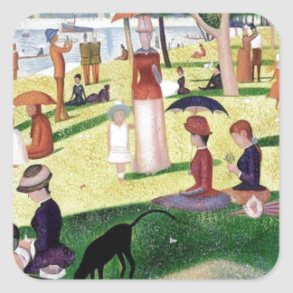 A Sunday Afternoon On The Island Of La Grande Jatt Square Sticker