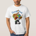 A Sunflower and Panda Earth T-Shirt