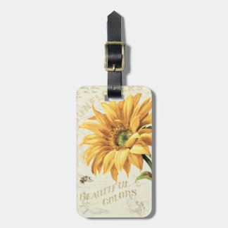 A Sunflower in Full Bloom Luggage Tag
