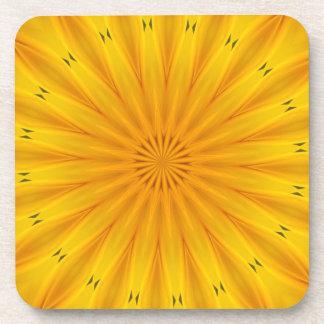 A Sunflower Kaleidoscope Drink Coaster