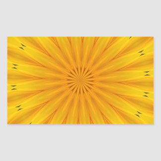A Sunflower Kaleidoscope Sticker