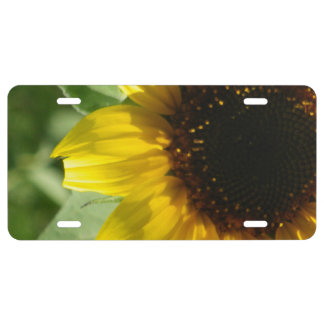 A Sunflower License Plate