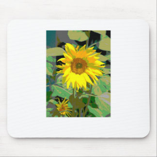 A sunflower mouse pad