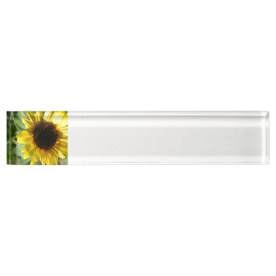 A Sunflower Nameplate