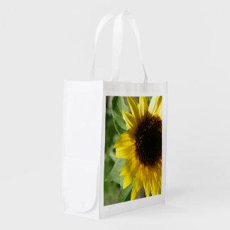 A Sunflower Reusable Grocery Bag