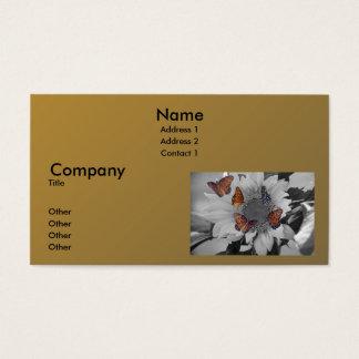 A Sunflower with Several Butterflies Business Card