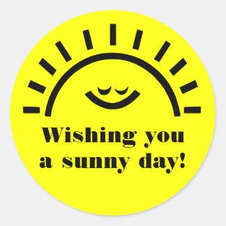 A sunny day classic round sticker