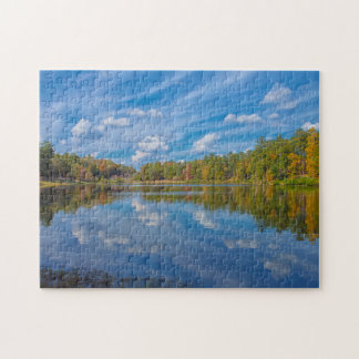 A Sunny Fall Reflection Jigsaw Puzzle