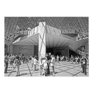 A sunny morning at the Louvre Museum Photo Print