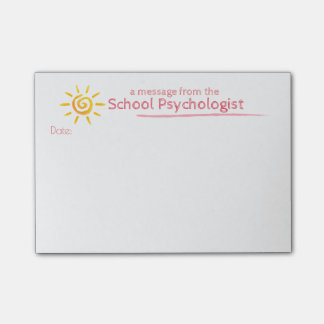 A Sunny Note From the School Psychologist