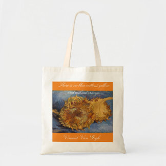 A sunny Sunflower tote bag for Van Gogh lovers.