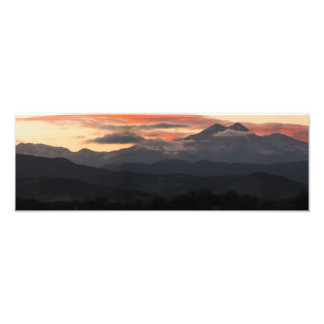 A Sunset Over Long's Peak In Colorado Photo Print