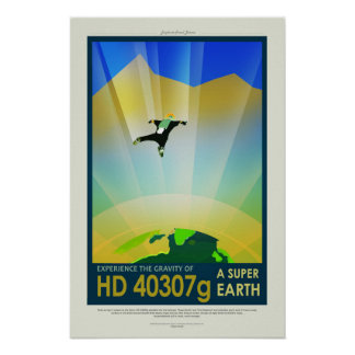 A Super Earth, Travel Poster