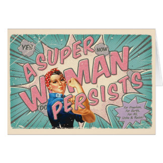 A Super Woman Persists Card