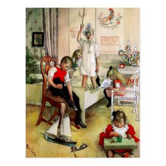 "A Swedish ""Christmas Morning"" by Carl Larsson Postcard"