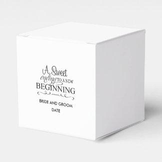 A Sweet Ending To A New Beginning Wedding Favor Box