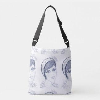 A Sweet Flapper in Dusky Blue Crossbody Bag