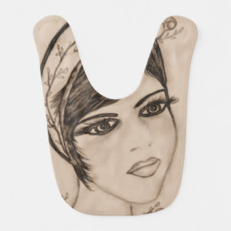 A Sweet Flapper in Sepia Bib