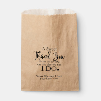 A Sweet Thank You Favour Bags, Wedding Favours Favour Bag