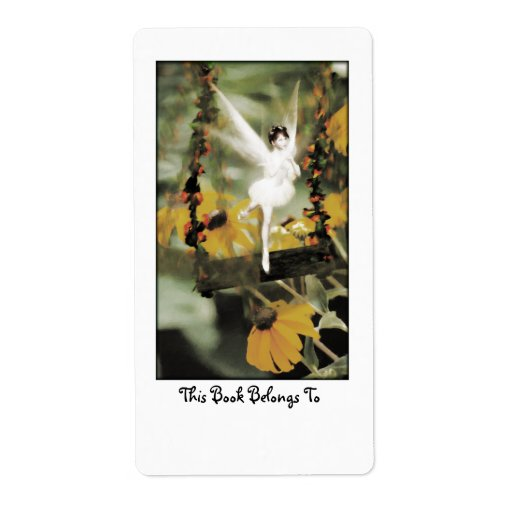 A Swing in the Garden Bookplate Custom Shipping Labels