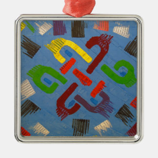 A symbol of success and good luck Silver-Colored square ornament