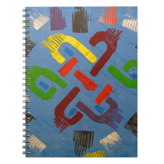 A symbol of success and good luck spiral notebook
