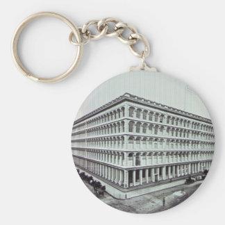 A.T. Stewart's Department Store NYC Vintage Basic Round Button Keychain