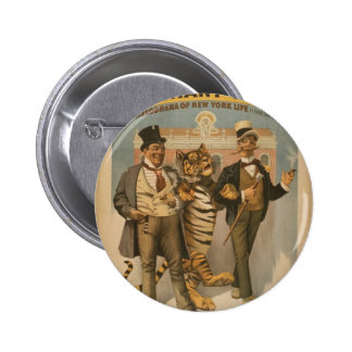 A Tammany Tiger Vintage Theater 2 Inch Round Button