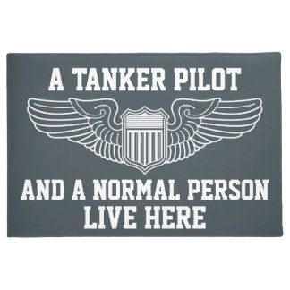 A Tanker Pilot and A Normal Person Live Here Doormat