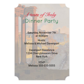 A Taste of Italy Dinner Party Invite