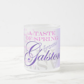 A taste of Spring from Galston 10 Oz Frosted Glass Coffee Mug