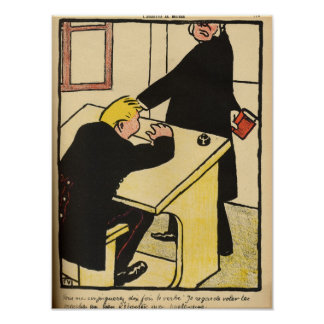 A teacher reprimands his pupil from Crimes Poster