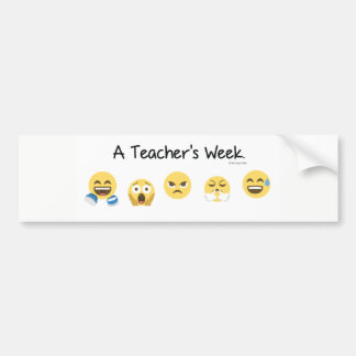 A Teacher's Week Bumper Sticker