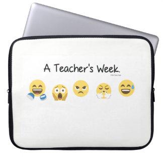 "A Teacher's Week Laptop Sleeve 15"""