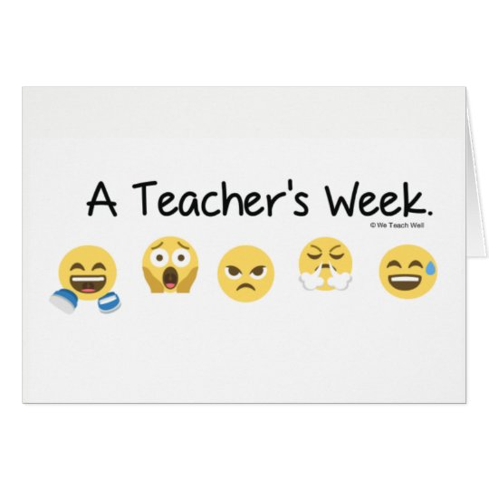 A Teacher's Week Note Card. Card