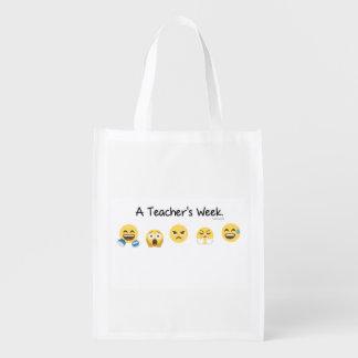 A Teacher's Week Reusable Bag