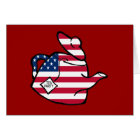 A Teapot in American Flag Colours Card