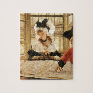 A Tedious Story by James Tissot, Vintage Fine Art Jigsaw Puzzle