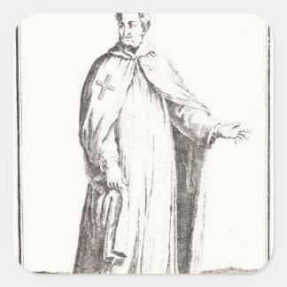 A Templar in his habit: white with a plain Square Sticker