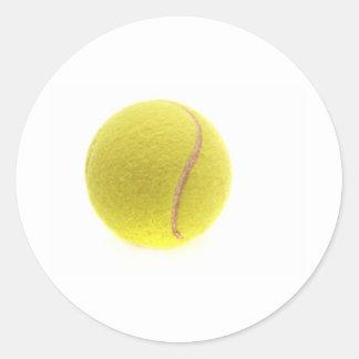 A tennis ball round sticker
