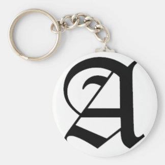 A-text Old English Keychain